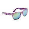 Wholesale California Classics Sunglasses by the Dozen - Style # 830 Purple with Flash Mirror