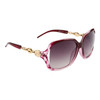 Wholesale Designer Sunglasses by the Dozen- Style # DE722  Patterned Purple w/Gold