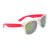 Bulk California Classics Sunglasses - Style # 32317 - Novelty Striped Lens Pink/Clear