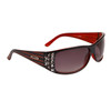 Diamond™ Eyewear Wholesale Rhinestone Sunglasses - Style # DI136 Black/Red