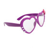 Clear Lens Heart Sunglasses - Style # 8068 Purple
