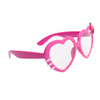 Clear Lens Heart Sunglasses - Style # 8068 Pink