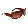 Fashion Sunglasses with Multi-Colored Rhinestones 8230 Brown
