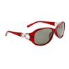 Women's Polarized Sunglasses - 8218 Translucent Maroon