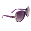 Large Lens Fashion Sunglasses DE5045 Purple