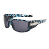 Xsportz™ Wholesale Sport Sunglasses - Style # XS7003  Black/Blue Camo