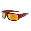 Bulk Sport Sunglasses Xsportz™- Style # XS7005 Red w/Gold Flash Mirror