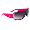 Wholesale Women's Designer Sunglasses - DE5037 Gloss Black/Hot Pink w/Silver