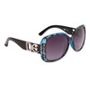 Vintage Sunglasses by the Dozen - Style #DE5026 Black/Blue