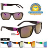 Wholesale Mirrored Sunglasses - Style #863 with Stickers Applied