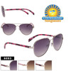 Multi-Color Design Temple Aviator Sunglasses - Style #6093
