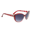 Diamond™ Eyewear Cat Eye Sunglasses with Rhinestones DI6013 Red