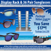 Package Deal ~ 1 Sunglass Rack & 36 Pair Assorted Sunglasses SPA4