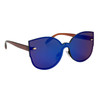 Fashion Sunglasses Wholesale - Style #6166 Blue/Brown