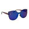 Fashion Sunglasses Wholesale - Style #6166 Blue/Brown