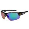 Sports Sunglasses in Bulk - Style XS7050 Black/Blue-Green