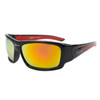 Xsportz™ Sports Sunglasses by the Dozen - Style XS8005 Black/Red
