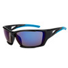 Xsportz™ Sports Sunglasses in Bulk - Style XS8008 Black/Blue