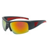 Sports Sunglasses by the Dozen - Style XS8004 Black/Red