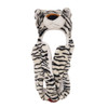 White Tiger Long Arm Animal Hat A130
