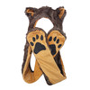 Brown Wolf Long Arm Animal Hat A129