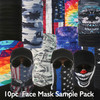 Sample Pack 10pc Assorted Face Masks (Assorted Colors)