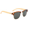 Bamboo temples withTortoise shell plastic and Gold metal frame with black lenses