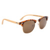 Bamboo Wood Temple Sunglasses - Style #W9001 (Assorted Colors) (12 pcs.)