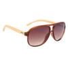 Coffee colored Frames and amber lenses with bamboo temples