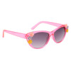 Dark pink frames with multi-colored flower accents