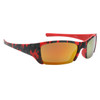Red and Black Camo frames with gold lenses