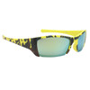 Yellow and Black Camo frames with gold lenses