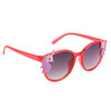 Red colored frames with unicorn accents