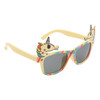 Yellow temples with rainbow frames and Unicorn accents on each side