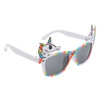 White temples with rainbow frames and Unicorn accents on each side