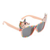 Pink temples with rainbow frames and Unicorn accents on each side