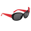 Black frames with red temples and red and white polka dot bow accent!