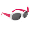 White frames with pink temples and pink and white polka dot bow accent!