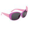 Purple frames with pink temples and pink and white polka dot bow accent!