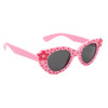 Light Pink frames with red flower polka dots and red flower accents on each side