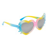 Yellow Pink and Blue frames with blue and yellow temples and kitty whisker accents