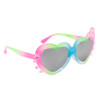 Blue Green and Pink frames with pink and green temples and kitty whisker accents