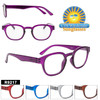 Great High Fashion wholesale readers.  Full plastic frame in 5 great colors.