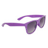 Polka Dot Wholesale Classics Sunglasses with Purple Frames and White Dots Item # 25812