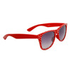 Polka Dot Wholesale Classics Sunglasses with Red Frames and White Dots Item # 25812