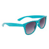 Polka Dot Wholesale Classics Sunglasses with Teal Blue Frames and Black Dots Item # 25812
