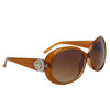 Diamond Eyewear Fashion Sunglasses for Women DI111 Transparent Brown Frame Color