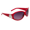 Heart Accent Diamond Eyewear with Rhinestones DI119 Red Frame