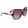 Rhinestone Sunglasses DI120 Red Frame