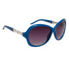 Ladies Rhinestone Sunglasses DI122 Blue Frame Color